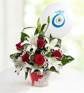 Mutlu Düşler Güller ve Lilyumlar