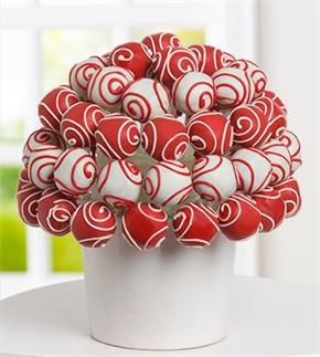 Kırmızı Beyaz Çikolatalı Truflar