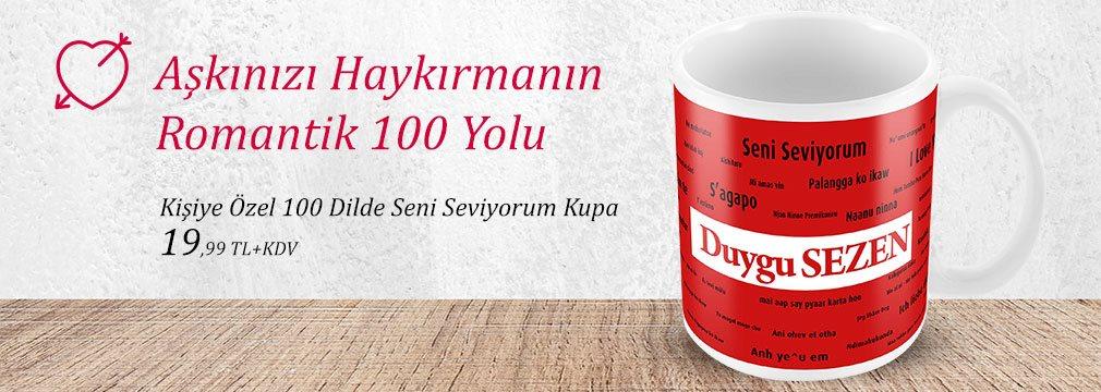 100 Dilde Seni Seviyorum Kupa